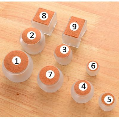 10pcs Silicone Rectangle Square Round Chair Leg Caps Feet Pads Furniture Table Covers Wood Floor Protectors   JS21