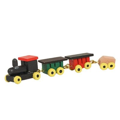 1:12 Mini Train Model Solid Wood Color Doll House Miniature Accessories Children's Bedroom Toy Furniture Dollhouse Miniaturas