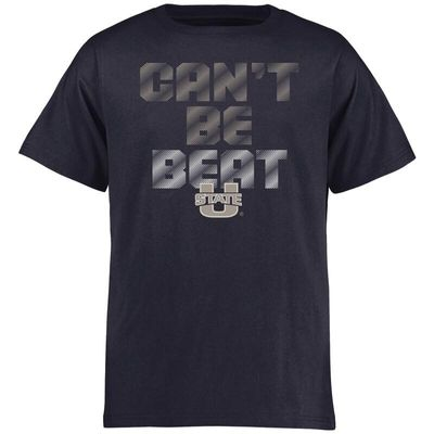 Utah State Aggies Youth Can't Be Beat T-Shirt - Navy