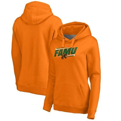 Florida A&M Rattlers Women's Double Bar Pullover Hoodie - Orange