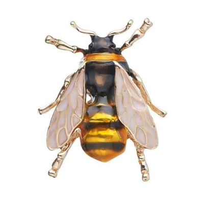 Enamel Bumblebee Brooches Men Women's Yellow Bee Insect Brooch Christmas Gift Broche Banquet Pins
