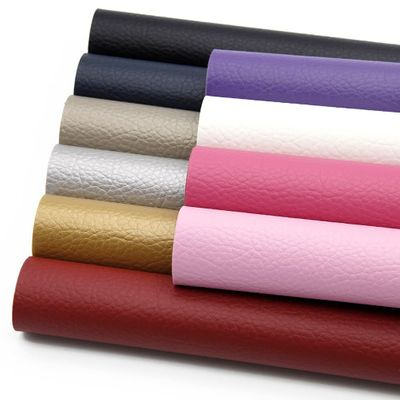 10Pcs/set 20*34cm Litchi Grain Faux Leather Fabric Sheets DIY Fabric Sewing Knotbow Bags shoes Earring Making,1Yc6618