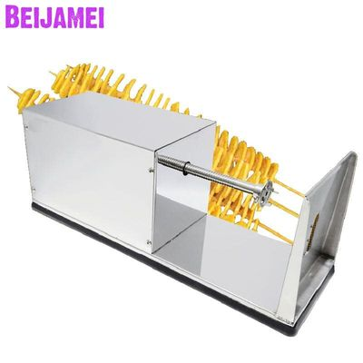 Beijamei Commercial French Fry Cutter Stainless Steel Spiral Potato Slicer Twist Potato Chips Making Machine Potato Cutter