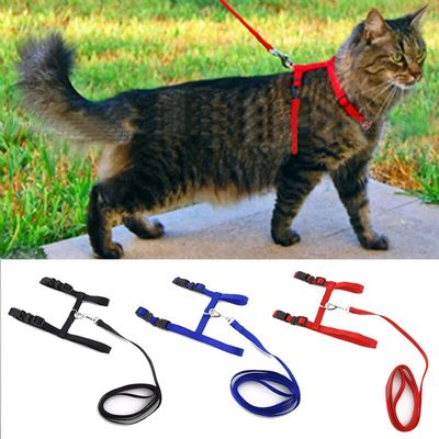 Cat Dog Collar Harness Leash Adjustable Nylon Pet Traction Cat Kitten Halter Collar gato Cats Products Pet Harness Belt
