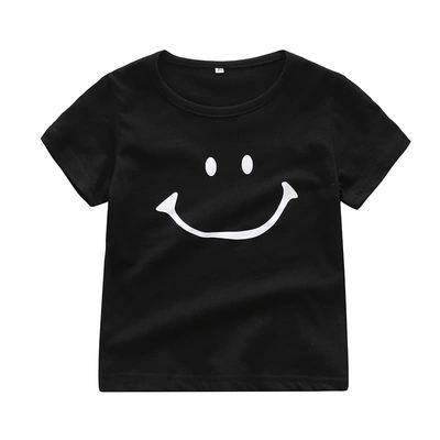 Summer Cute Baby Girl Boy Short Sleeve T-Shirts For Kids Smile Printed Tops Tees Shirts Casual Blouse
