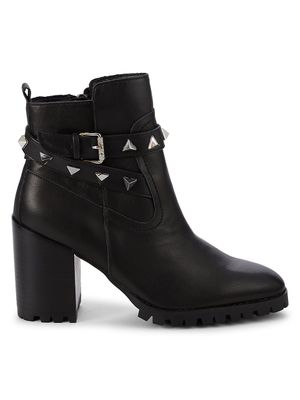 Steven New York Ibby Leather Heeled Booties