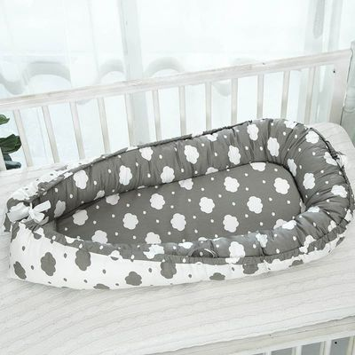 Baby Sleeping Crib Basket for Stroller Newborn Baby Cot Bed Cushion Travel Safety Protection Portable Crib Bumpers