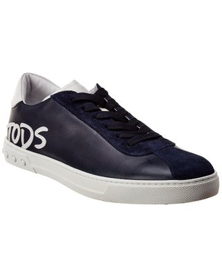 TOD's Leather & Suede-Trim Sneaker