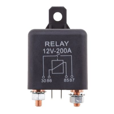 12V DC 200 Amp Split Charge Relay Switch - 4 Pin Relays for Truck Boat Marine