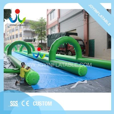 Outdoor 200X6m Funny City Inflatable Slip Water N Slide with Two Lanes