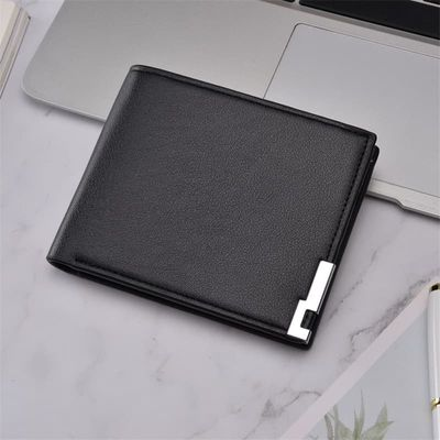 2020 Ultra-thin Short Sequined Men Wallets with Coin Bag Black Purse Men Wallet Male Small Money Dollar Slim Card Case Carteira