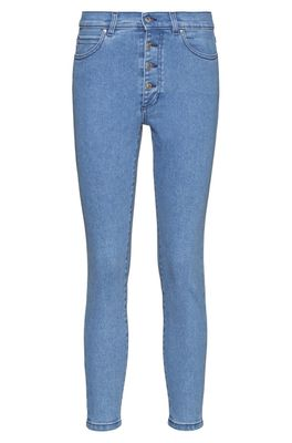 HUGO BOSS - Lou Skinny Fit Cropped Jeans With Exposed Button Fly