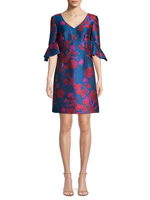 Trina Turk Tour The Vineyard Jacquard A-Line Dress