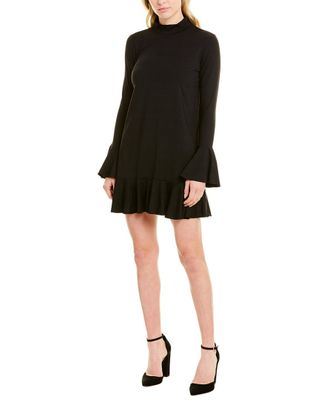 susana monaco Mock-Neck Mini Dress