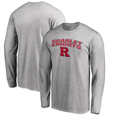 Rutgers Scarlet Knights Proud Mascot Long Sleeve T-Shirt - Ash