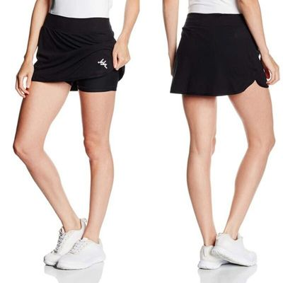 Women's Tennis Skort Active Athletic Skirt With Pockets Quick Dry Pencil Skirts With Shorts Inner For Running Golf Workout