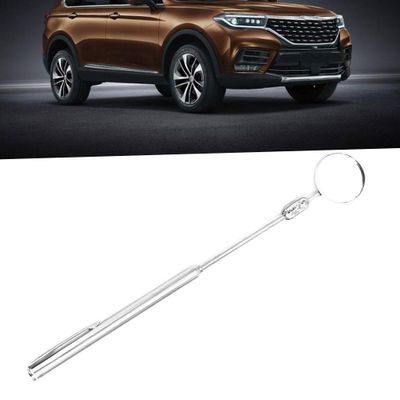 Auto Car Round Mirror Telescoping Inspection Extending Hand Tool for Auto Rearview Mirror 360 Degree Wide Angle Rear View