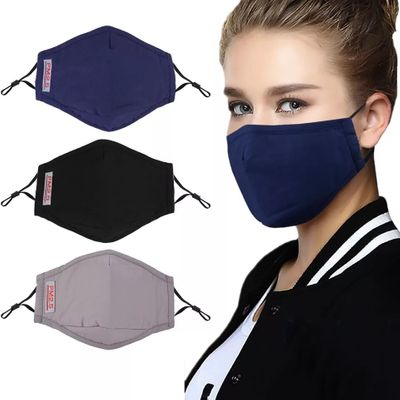 6 pcs Cotton PM2.5 Mouth Mask Anti Pollution Mask With Filter Paper Dust Respirator Washable Reusable Masks Mouth Fast Shipping