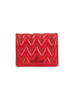 Valentino by Mario Valentino Nero Quilted Leather Wallet