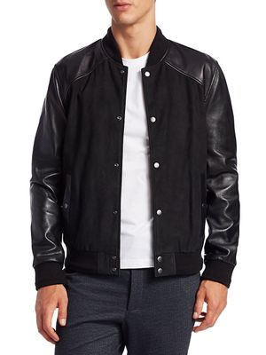 Nominee Leather & Suede Bomber Jacket