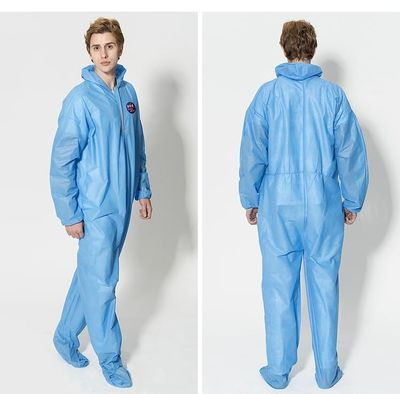 Disposable Work Clothes Non-Woven Fabric Protective Safety Clothing Dustproof Waterproof Men's Work Clothes Hooded Onesies