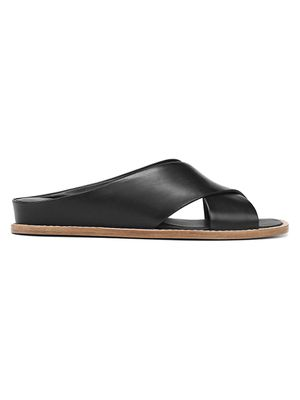 Vince Fairley Criss-Cross Leather Slide Sandals