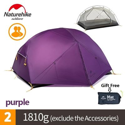 Naturehike factory sell Mongar 2 Camping Tent Double Layers 2 Person Waterproof Ultralight Dome Tent