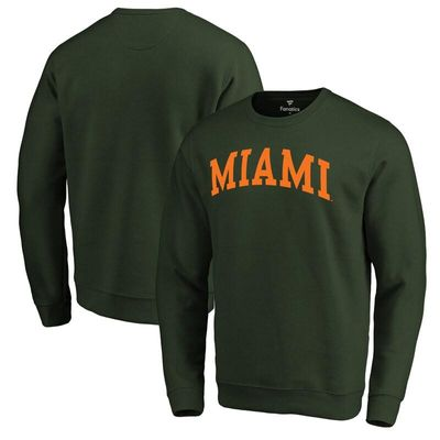 Miami Hurricanes Fanatics Branded Basic Arch Sweatshirt - Green