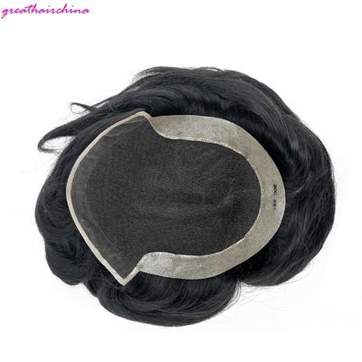CC Style Mens Toupee LACE FRONT LIGHT MONOFILAMENT Top WITH 3/4