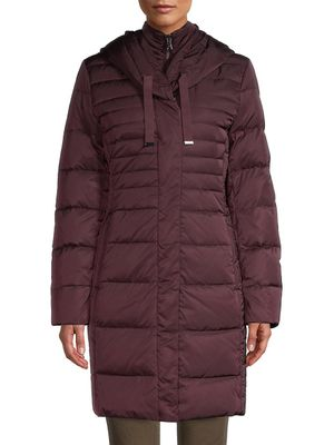 T Tahari Down-Filled Long Puffer Jacket
