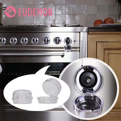 EUDEMON 6pcs Child Protection Home Kitchen Oven Gas Cooker Button Knob Control Switch Protective Cover Protector Security Lock