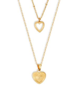 AVA & AIDEN Heart Charm Layered Necklace