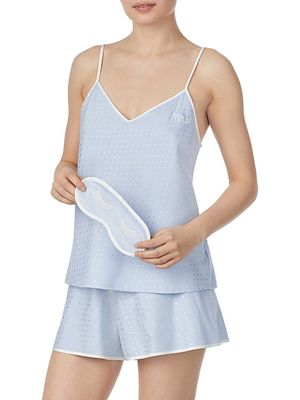 Kate Spade New York Polka Dot Mrs 3-Piece Cami, Shorts & Eye Mask Pajama Set