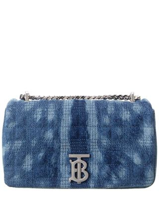 Burberry Small Quilted Denim Shoulder Bag