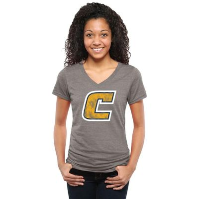 Tennessee Chattanooga Mocs Women's Classic Primary Tri-Blend V-Neck T-Shirt - Gray
