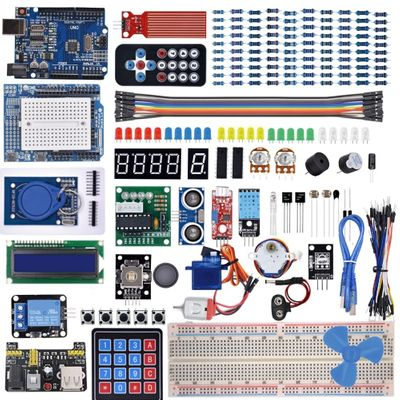 The Most Complete Starter Kit for Arduino UNO R3 with Gift Rfid card / Relay Module / Stepper Motor /including Tutorial