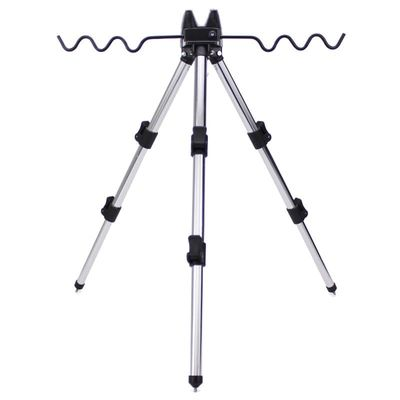 NEW Portable foldable triangular Alloy Telescopic Groove Fishing Rods Holder Collapsible Tripod Stand Sea Fishing Pole Bracket