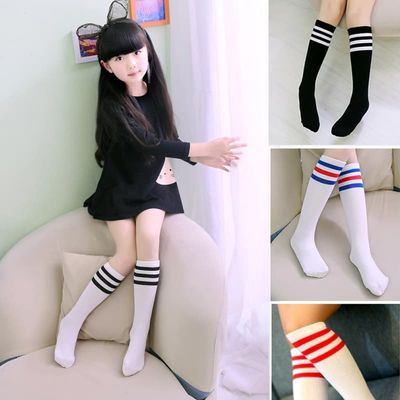 1-12 Years Old Baby Girl Cute Striped Simple Teenage Girl Fashion Striped Cotton Tube children's Socks