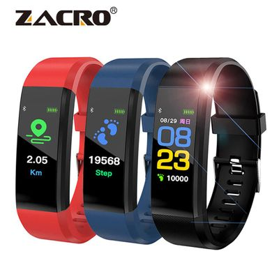 115 Plus Smart Bracelet Sports Pedometer Watch Fitness Running Walking Tracker Heart Rate Pedometer Smart Band for IOS Android