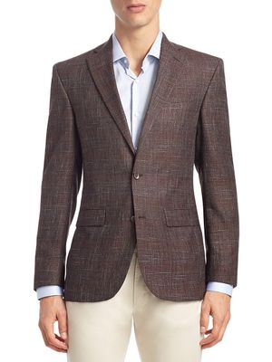 Jack Victor COLLECTION Textured Wool & Bamboo Sportcoat