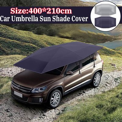 400x210cm Car Umbrella Sun Shade Cover Tent Cloth Canopy Sunproof  for Outdoor YAN88