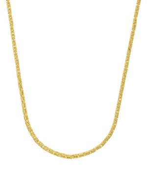 Saks Fifth Avenue 14K Yellow Gold Square Beveled Byzantine Chain Necklace