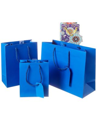 Jillson & Roberts Gift Tote Assortments - 4 Pack - Blue