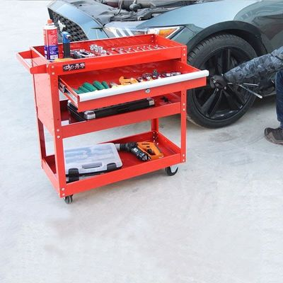 handcart toolbox tool storage car repair parts auto accesseries three-storey stand frame movable wheels car service tool