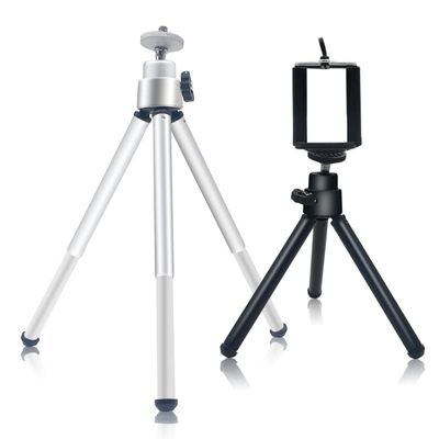 Mini Tripod for smartphone Aluminum Metal Lightweight Tripod Stand Mount For Phone With Phone Clip Tripod for iPhone