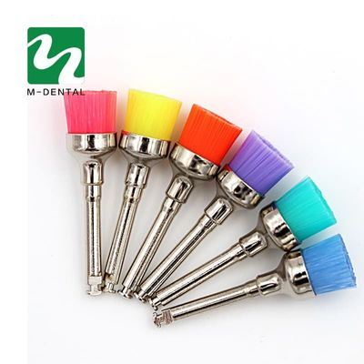 Colorful Nylon Latch Flat Polishing Polisher Prophy Cup Brushes Dentist Products Dental Lab Hot Sale
