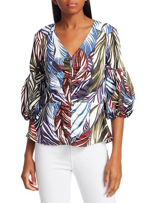 Parker Dita Balloon-Sleeve Blouse