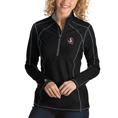 Florida State Seminoles Antigua Women's Tempo 1/4-Zip Desert Dry Pullover Jacket - Black