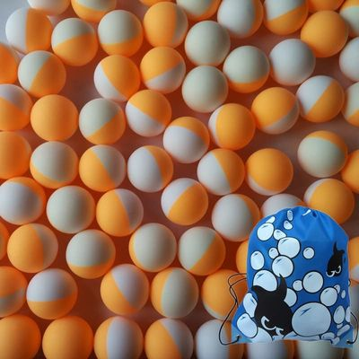 100pcs/Pack 3Stars Professional Table Tennis Ball White Orange Double Color 40+ New Material Trainning Ping Pong Balls Bag Pack