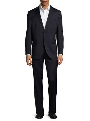 Kenneth Cole Slim-Fit Solid Wool-Blend Stretch Suit